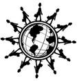 employees global vector image