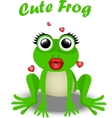 fairy frog princess vector image