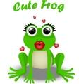 Fairy frog princess vector image