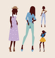 fashion models woman silhouette sketch attractive vector image vector image