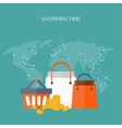 Flat header Shopping Web vector image vector image