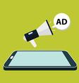 Flat isometric mobile phone marketing vector image