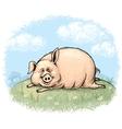 Fun pig vector image