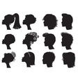 hairstyle silhouettes vector image vector image