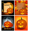 halloween backgrounds vector image vector image