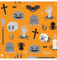 Halloween pixel art pattern vector image