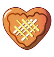 heart cookie icon cartoon style vector image vector image