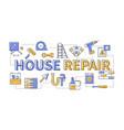 house repair - line design style modern banner vector image