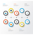job flat icons set collection of developer pie vector image vector image
