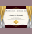 luxury certificate template with elegant silver vector image vector image
