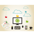 Mail electronic vector image
