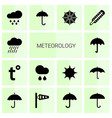 meteorology icons vector image vector image