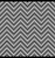 monochrome chevron pattern black and white vector image vector image