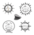 nautical labels icons and design elements vector image