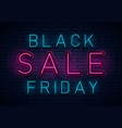 neon black friday vector image vector image