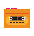 old cassette recorder pop art colors vector image vector image