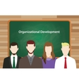 Organizational development program in vector image vector image