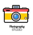 Photo studio or professional photographer logo vector image vector image