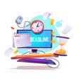project deadline job organization poster vector image