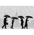 Rain people vector image vector image