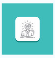 round button for manager employee doctor person vector image