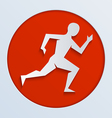 run red paper vector image