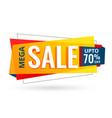 sale banner design for business promotion vector image vector image