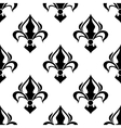 Seamless floral pattern with abstract black lilies vector image vector image