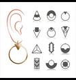set earrings vector image