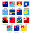 set of all flags of the countries of oceania vector image vector image