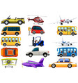 set of transportation vehicle vector image