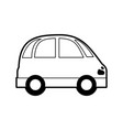 sketch silhouette image small car icon vector image