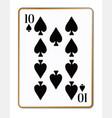 ten spades playing card vector image vector image