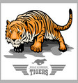 tiger attack - sport mascot style vector image