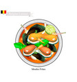 Tom yum or thai spicy and sour soup with mussels vector image