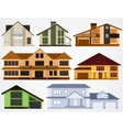 Town house cottages vector image vector image