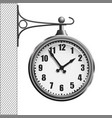 train station clock isolated on white background vector image vector image