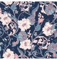Vintage seamless pattern with blooming magnolias vector image vector image