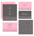 Wedding stationery design set vector image vector image