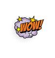 wow cartoon comic book sound pop cloud puff vector image vector image