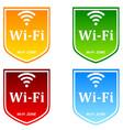 free wifi zone vector image