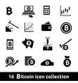 16 bitcoin icon collection vector image vector image
