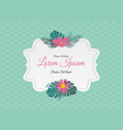 abstract vintage frame with flowers vector image