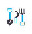 agricultural tools linear icon concept vector image vector image