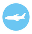 airplane blue icon vector image
