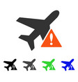 airplane error flat icon vector image vector image