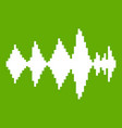 audio digital equalizer technology icon green vector image vector image