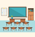 back to school background classroom in flat design vector image vector image