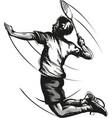 badminton player vector image vector image