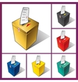 Ballot box and ballot vector image vector image